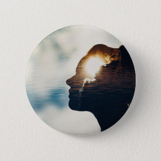 Light head 6 cm round badge