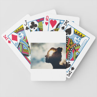 Light head bicycle playing cards