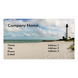 Light house in Miami - Business Card