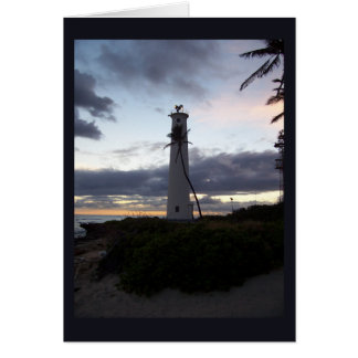 Light House on Point Greeting Card