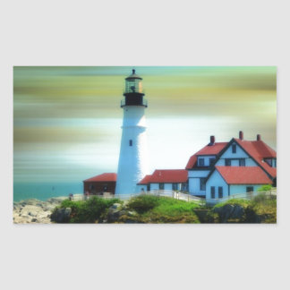 Light House Portland Headlight Rectangular Sticker