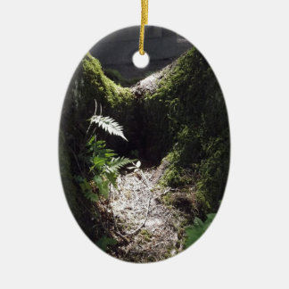 Light in the Forest Ceramic Oval Decoration