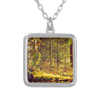 Light in the Forest Silver Plated Necklace