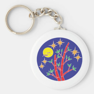 light in the night basic round button key ring