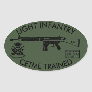 LIGHT INFANTRY OVAL STICKER