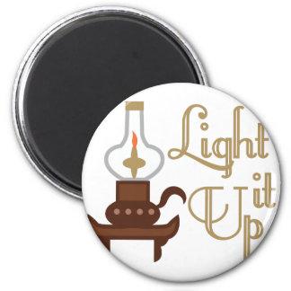 Light It Up 6 Cm Round Magnet