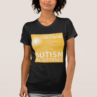 Light It Up Gold for Autism Acceptance T-Shirt