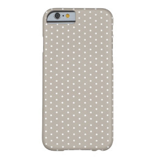 Light Khaki Polka Dot iPhone 6 Barely There iPhone 6 Case