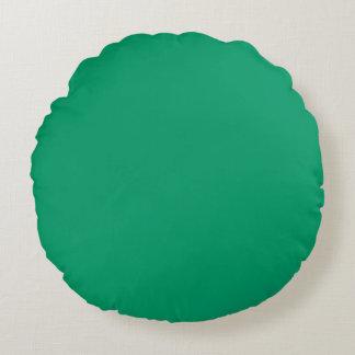 light Lake Green Blue solid plain color Custom Round Cushion