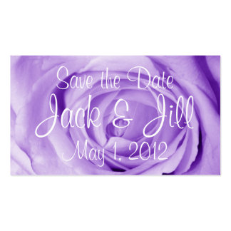 Light Lavender Save the Date Pack Of Standard Business Cards
