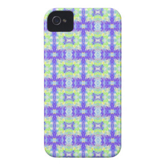 Light Lavender Teal Pastel Connections Pattern iPhone 4 Case