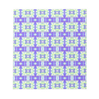 Light Lavender Teal Pastel Connections Pattern Notepads