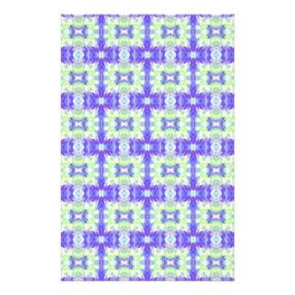 Light Lavender Teal Pastel Connections Pattern Personalised Stationery