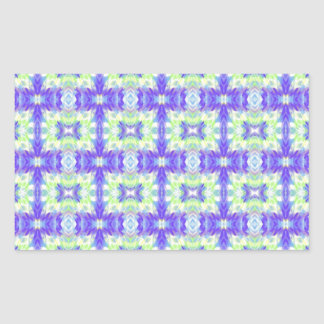 Light Lavender Teal Pastel Connections Pattern Rectangular Sticker