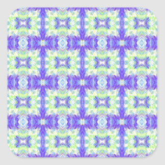 Light Lavender Teal Pastel Connections Pattern Square Sticker