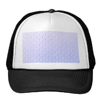 light lavender & white polka dot faux suede chic trucker hat