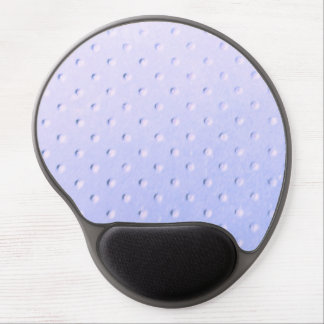 light lavender & white polka dot faux suede chic gel mouse pads