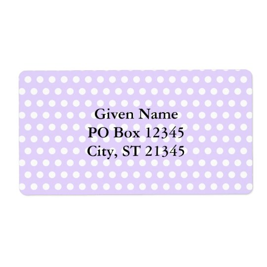 Light Lavender with White Polka Dots