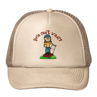 Light Lawn Care Girl Trucker Hat