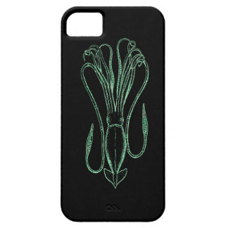 Light Letterpress Style Squid iPhone 5 Cover