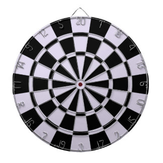 Light Lilac And Black Dartboard