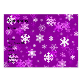 Light Lilac Snowflakes Business Card Template