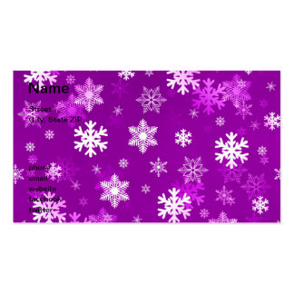 Light Lilac Snowflakes Business Cards