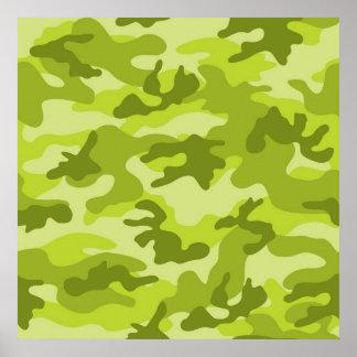 Light Lime Green Camo Camouflage Print