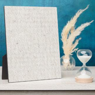Light Linen Background Plaque