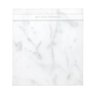 Light Marble Texture Look-like & Personalised Name Notepad