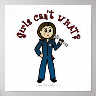 Light Mechanic Girl Posters