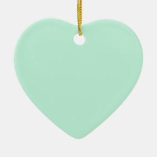 Light Mint Color Ceramic Heart Decoration