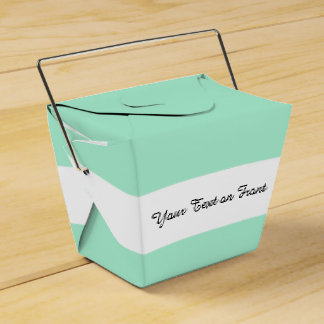 Light Mint Green High End Colored Matching Favour Box