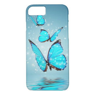 Light Modern 3 Blue Butterfly iPhone 7 Case