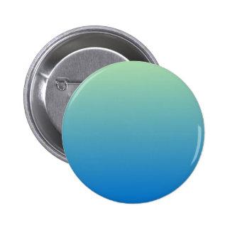 Light Moss Green to True Blue Horizontal Gradient Pinback Button