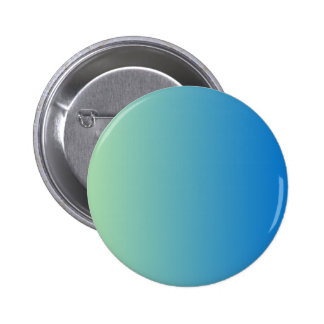 Light Moss Green to True Blue Vertical Gradient Pinback Buttons