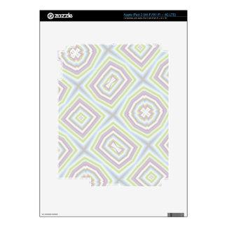 light multicolored pattern iPad 3 skin