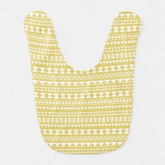Light Mustard Yellow Aztec Tribal Pattern Bib