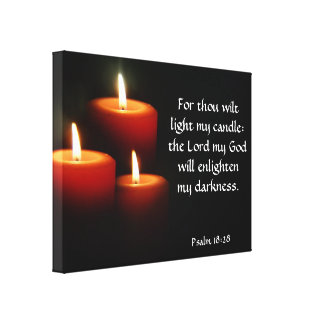 Light My Candle Wrapped Canvas Stretched Canvas Print