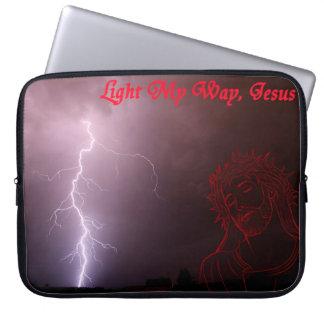 Light My Way, Jesus Laptop Sleeve