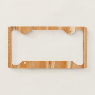 Light Natural Wood Panel Licence Plate Frame
