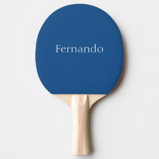 Light Navy Blue Customizable Ping Pong Paddle