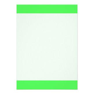 """Light Neon Green color 5"""" X 7"""" Invitation Card"""