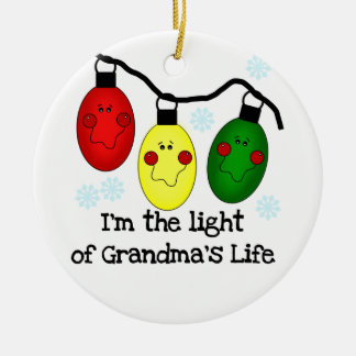 Light of Grandma's Life Customised Ornament