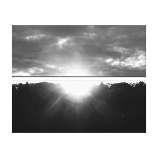 Light of Hope Sunrise Monochrome Canvas Prints