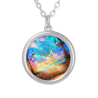 Light of joy and amour silver plated necklace