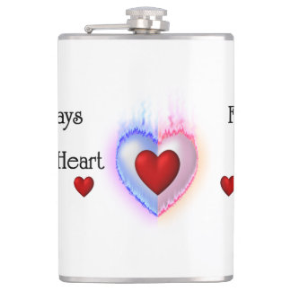 Light Of My Life 8oz Vinyl Wrapped Flask
