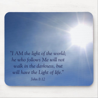Light of the World Christian Mousepad