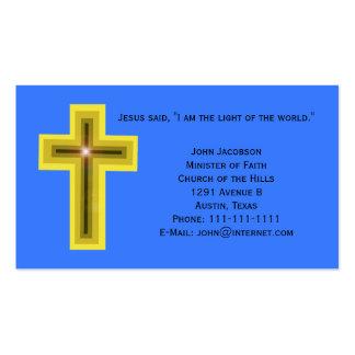 Light of the World Cross Christian Business Card