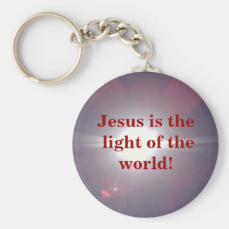 Light of the world! basic round button key ring